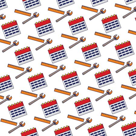 calendar wrench tools background labour day vector illustration 向量圖像