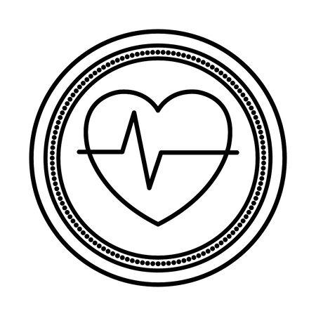 cuore cardio medico isolato icona illustrazione vettoriale design