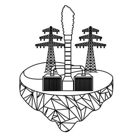 eco friendly geothermal and tower energy vector illustration 写真素材 - 130516165