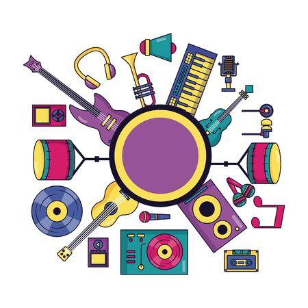 music instrument festival background vector illustration design