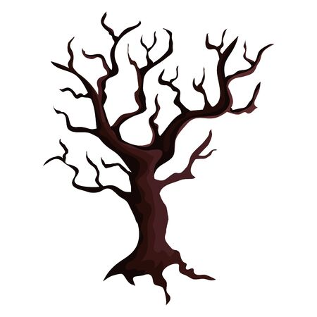 dry tree plant isolated icon vector illustration design