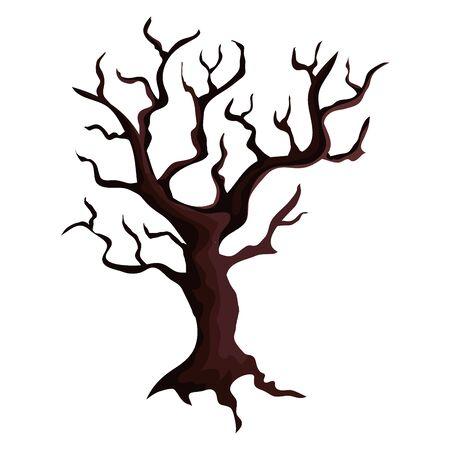 trockener Baum Pflanze isoliert Symbol Vektor Illustration Design Vektorgrafik