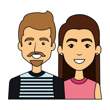 young couple urban style characters vector illustration design Standard-Bild - 130535102