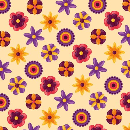 flowers ornaments raksha bandhan background vector illustration