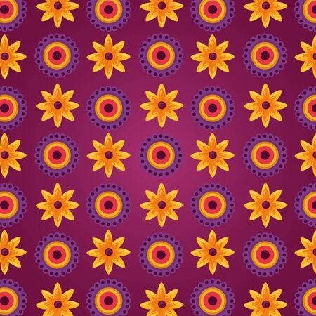 raksha bandhan flowers decoration background vector illustration