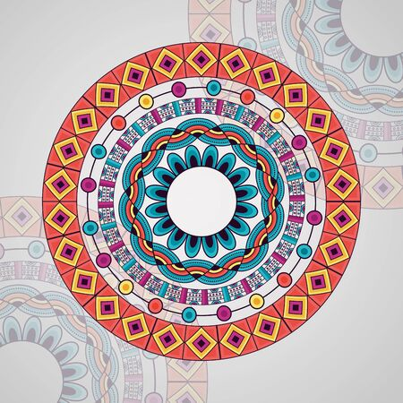 mandala vintage decorative element mystical design vector illustration Ilustrace