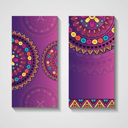 ornamental ethnic banner vintage mandala template vector illustration