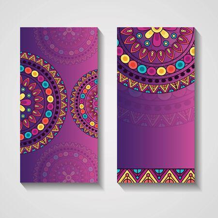 ornamental ethnic banner vintage mandala template vector illustration