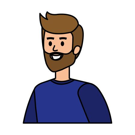 young man with beard character vector illustration design Ilustrace