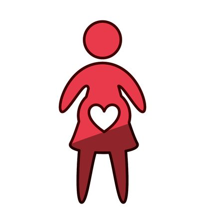 woman pregnancy silhouette isolated icon vector illustration design Çizim