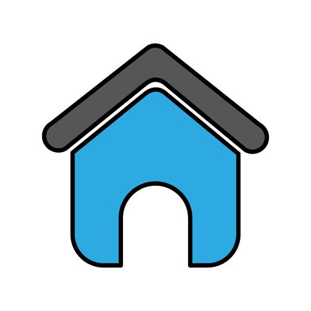 house silhouette isolated icon vector illustration design 스톡 콘텐츠 - 130608571