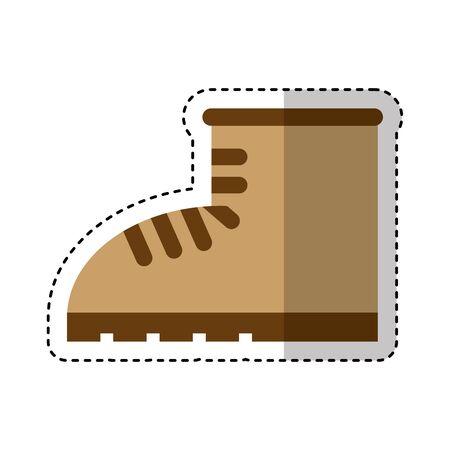 work boot shoe isolated icon vector illustration design Foto de archivo - 130608572