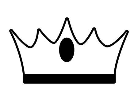 crown luxury icon on white background vector illustration Standard-Bild - 130608585