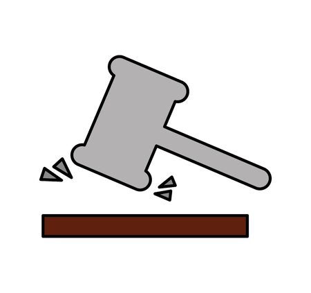 gavel justice isolated icon vector illustration design Illustration