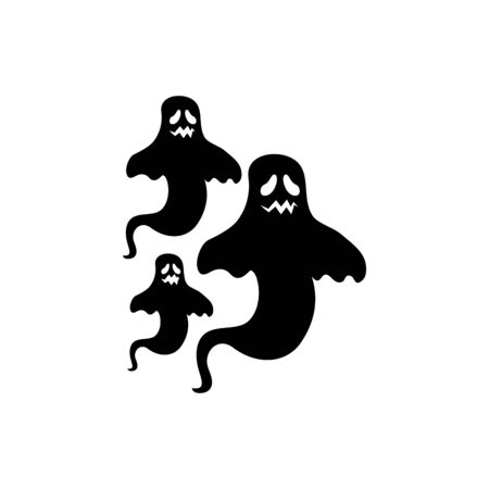 halloween mysterious ghosts isolated icon vector illustration design