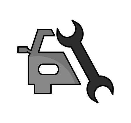 auto repair service isolated icon vector illustration design Ilustracja