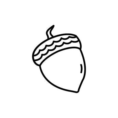 season autumn nut isolated icon vector illustration design