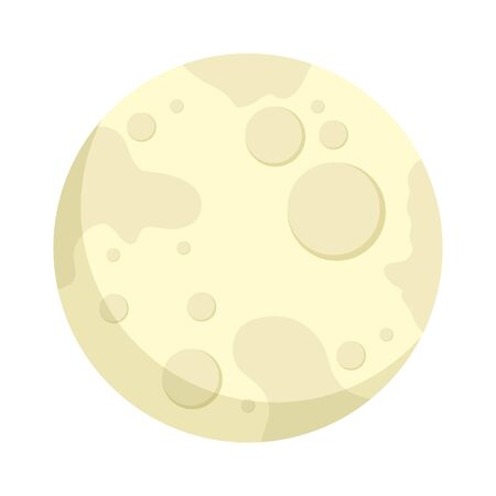 full moon bright isolated icon vector illustration design
