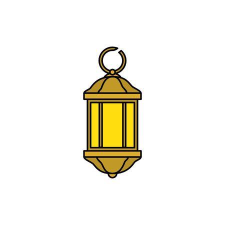 lantern light hanging isolated icon vector illustration design Stock Vector - 130779226