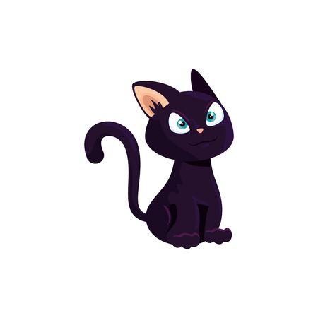 Gato animal felino de halloween, diseño de ilustraciones vectoriales