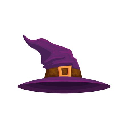 hat of witch halloween isolated icon vector illustration design