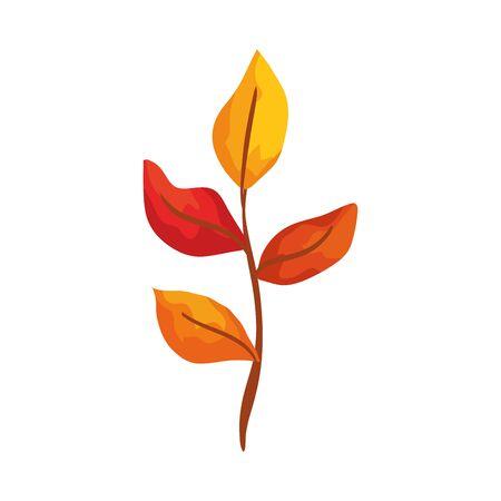 season autumn branch with leafs vector illustration design