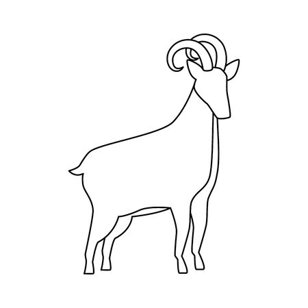 cute lamb farm animal icon vector illustration design Illustration