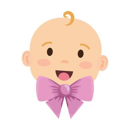 cute little baby girl character vector illustration design Illustration