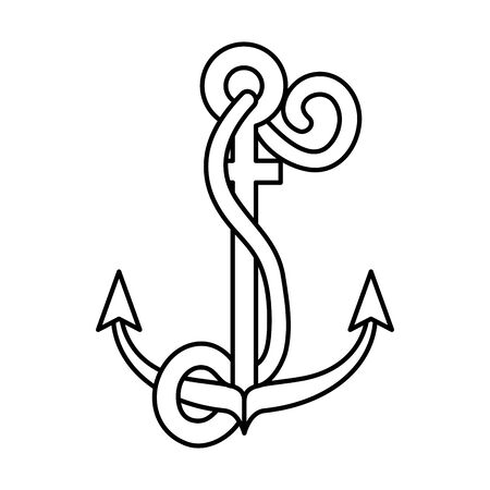 summer marine anchor isolated icon vector illustration design Illustration