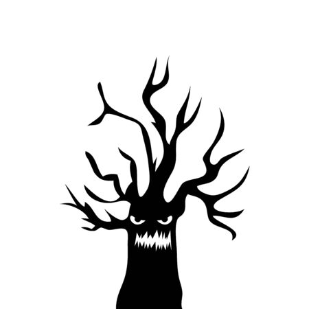 haunted dry tree isolated icon vector illustration design Фото со стока - 132590443