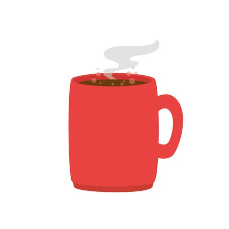 coffee cup hot isolated icon vector illustration design