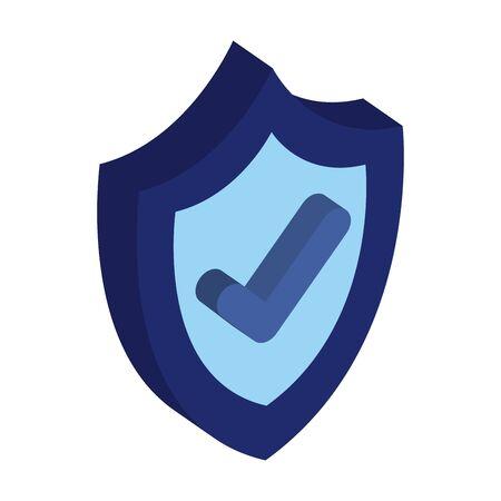 shield security with ok symbol vector illustration design Ilustração