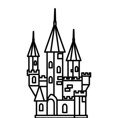 haunted castle halloween isolated icon vector illustration design