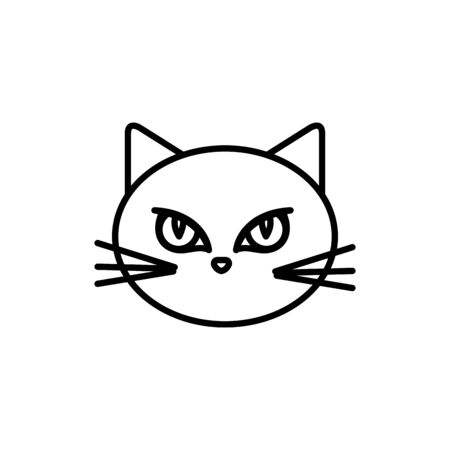 head of cat animal of halloween vector illustration design