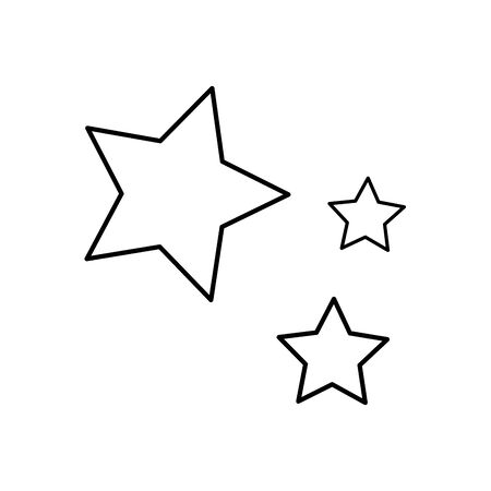 set stars decoration isolated icon vector illustration design Stock Vector - 132608766