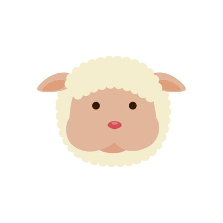 face of sheep animal isolated icon vector illustration design