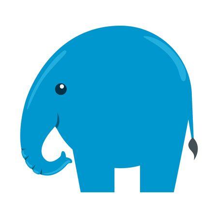 cute little elephant silhouette icon vector illustration design Ilustração