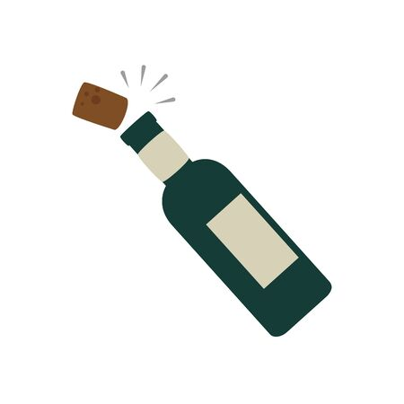 bottle of wine isolated icon vector illustration design