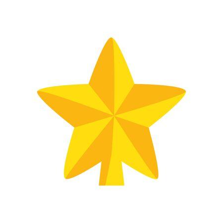 star decoration christmas isolated icon vector illustration design  イラスト・ベクター素材
