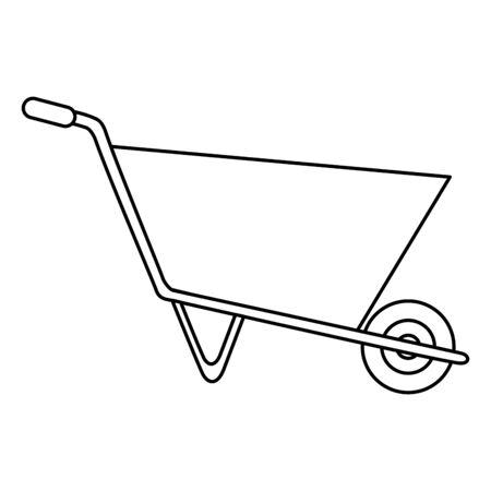 wheelbarrow construction tool isolated icon vector illustration design