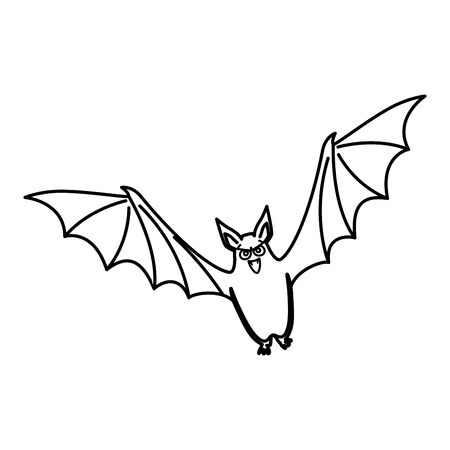 bat flying halloween isolated icon vector illustration design