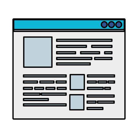 template webpage browser icon vector illustration design Illustration