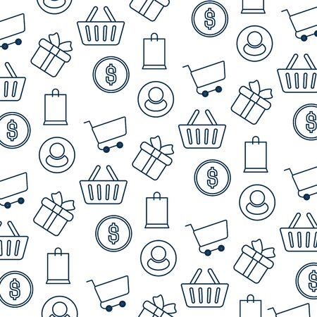 pattern e-commerce isolated icon vector illustration design