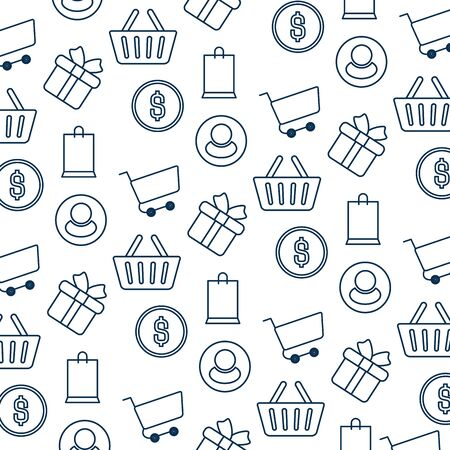 pattern e-commerce isolated icon vector illustration design