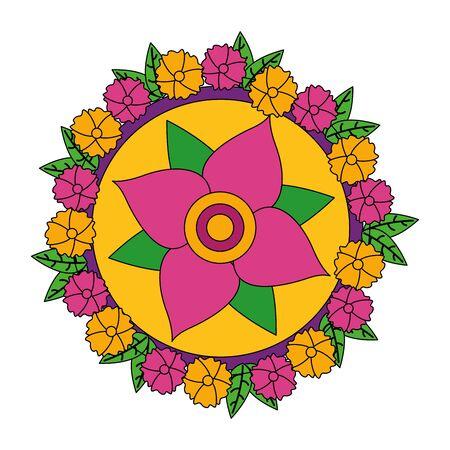 Flower design, floral nature plant ornament garden decoration and botany theme Vector illustration Ilustrace