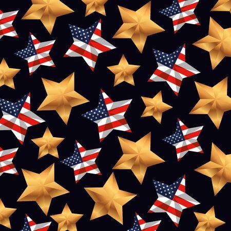 national usa flag stars background vector illustration