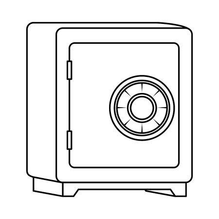 safe box savings security icon vector illustration design Vektorové ilustrace