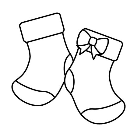 baby socks clothes isolated icon vector illustration design  イラスト・ベクター素材
