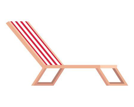 beach chair confort isolated icon vector illustration design  イラスト・ベクター素材