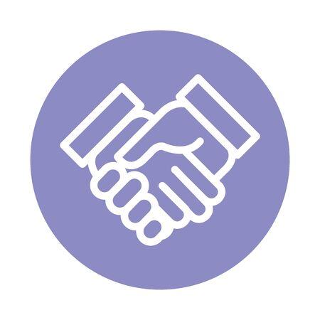 handshake done deal isolated icon vector illustration design Banco de Imagens - 132612897